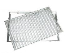 Horganyzott járórács kerettel fém rostélyrács 60x40x2 cm tüzihorganyzott keretes
