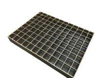 Inox járórács rostélyrács 292x388x40 saválló lépcsőrács rozsdamentes teherbíró rács
