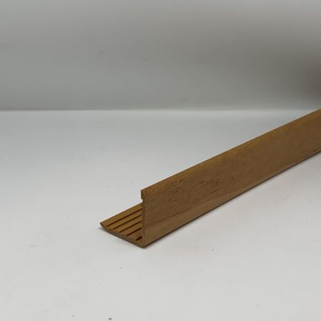 OX Műanyag sarokléc bükk színű famintás sarokprofil 22x22x2000 mm