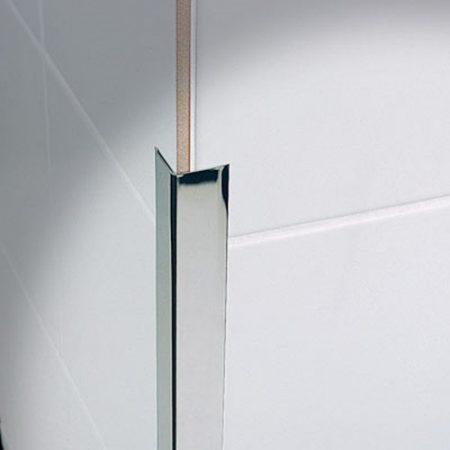Rozsdamentes sarokléc inox sarokprofil 25x25x2500 mm saválló saroktakaró sarokvédő élvédő