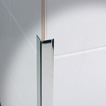 Rozsdamentes sarokléc inox sarokprofil 40x40x2500 mm saválló saroktakaró sarokvédő élvédő