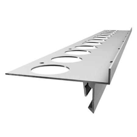 OX Stone magasítható balkonszegély fém vízvető profil kőszőnyeg teraszprofil 2,5 m toldható élvédő e
