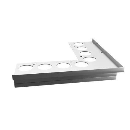 Stone erkélyszegély külső sarok 250 mm teraszprofil balkon élvédő