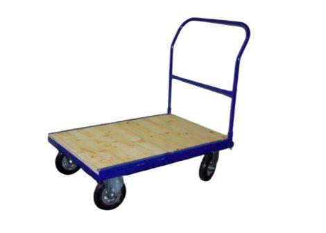 Szállítókocsi, húzható kézikocsi 500 kg teherbírás 100 x 700 cm-es rakfelület, fékezhető kerék