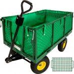 Kiskocsi, húzható kézikocsi 550 kg teherbírású, lehajtható oldalú plató, fix kar