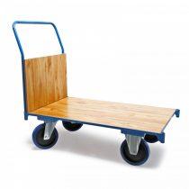 Szállítókocsi, húzható kézikocsi 600 kg teherbírás,100 x 60 cm-es rakfelület rögzítőfékkel ellátott