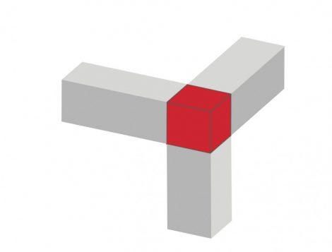 Csempe padlólap szögletes sarokprofil kocka forma Záróelem Sarokelem rozsdamentes inox 8 mm-es profi