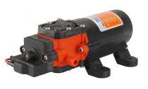 Önfelszívó membrán szivattyú 12V 48W 240 liter/óra 4,8 bar pumpa permetező keringető vágógép