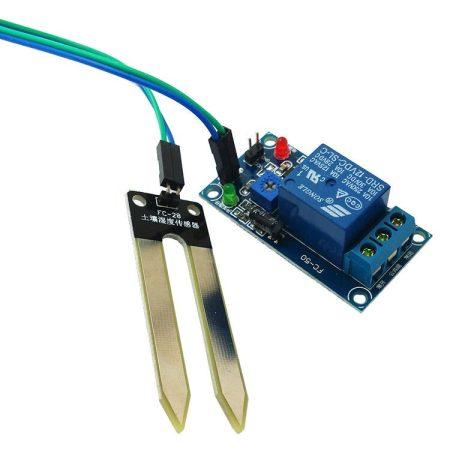 Öntöző automata kapcsoló talajnedvesség tartalom mérő elektronika 30V-230V. A beállított szint alatt