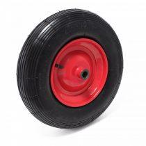 Ø 400 mm fúvott gumikerék pótkerék talicska kézikocsi, kiskocsi 400x100 4.00-8 átmérő 400 mm fém fel