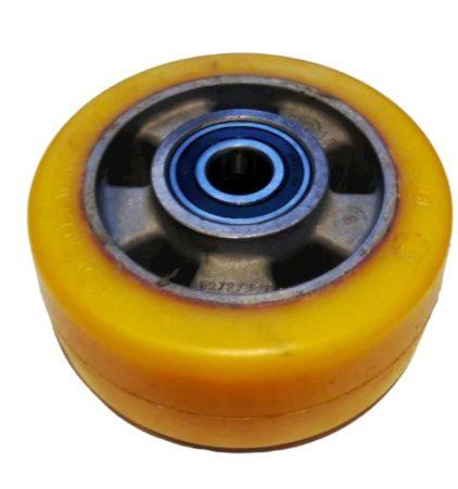 Ø 140 mm támasztó, stabilizáló kerék targonca raklapemelő kerék uretan acél ház poliuretán
