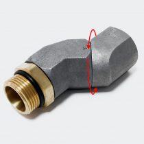 Üzemanyag töltőcső forgó-csukló, utólag beszerelhető a kezelés megkönnyítésére