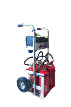 Tűzoltó palack szállító kézikocsi Tűzoltó készülék és más palack szállítására szolgáló szervizkocsi