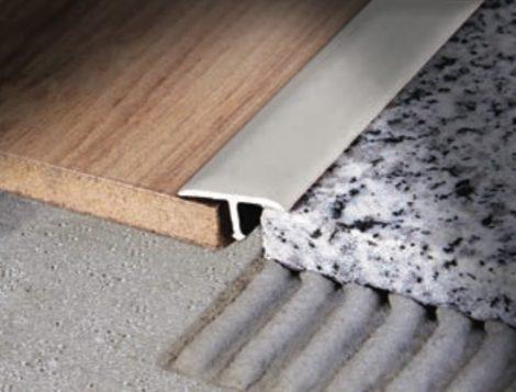 T profil burkolatváltó utólag betehető beépíthető alumínium 26 mm széles 250 cm hosszú