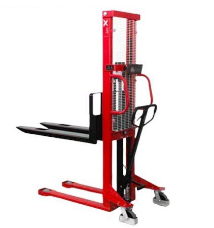 Mérleges kézi magasemelő targonca 1000 kg 1 tonna 1,2 méter