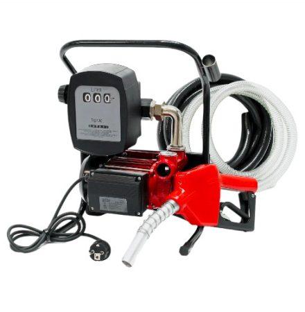 Mobil gázolaj kút 230V  biodízel, dízel, diesel szivattyú - számláló és automata töltő pisztoly  60