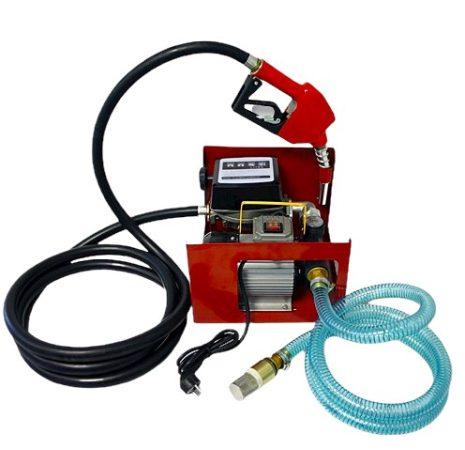 Üzemanyag töltő szivattyú állomás 230V 550W kézi töltő pisztoly gázolaj kút dízel töltőállomás 60 l/