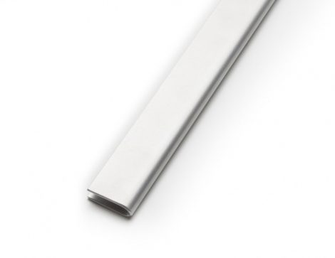 Lemez szegő U profil perforált lemez keret 2-3-5-8 mm vastag lemezhez rozsdamentes acél 2500 mm szál