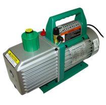 2 lépcsős vákuumszivattyú nagyteljesítményű 224 liter/perc  230V 800W  0,000003 Bar 3 Pa 8 cfm