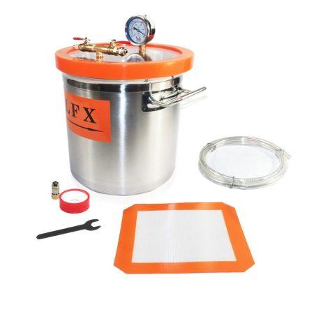 Vákuumtartály, vákuumkamra 12 literes rozsdamentes inox tartály