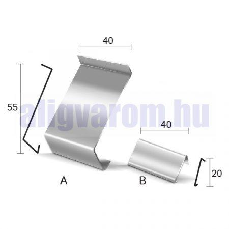 Drip toldóprofil vízvető profil erkély balkon terasz balkonszegély min. 8 9 10 mm-es laphoz ezüst ba