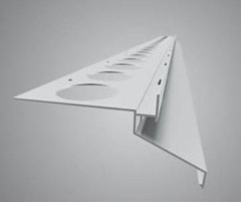 Drip Plus széles vízvető profil erkély balkon terasz 40 mm túlnyúlás 20 mm magas lapokhoz 1 szál 2,5