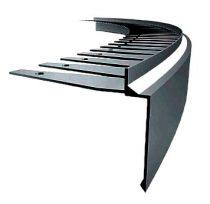 OX Flexi Priamy hajlítható teraszszegély Antracit flexibilis vízvető erkély terasz élvédő görbíthető
