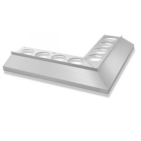Maxi vízvető sarokprofil erkély balkon terasz 25x25 cm derékszög teraszprofil balkonszegély ezüst ba