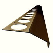 OX Maxi széles vízvető Barna színű profil burkolólap alá erkély balkon terasz 40 mm túlnyúlás 1 szál