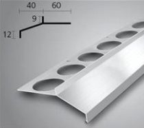 Vízvető profil erkély balkon terasz 40 mm túlnyúlás 1 szál 2,5 m teraszprofil balkonszegély min. 8 -