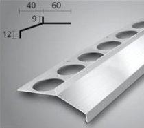 OX Maxi széles vízvető natúr alumínium vízorr profil burkolólap alá erkély balkon terasz