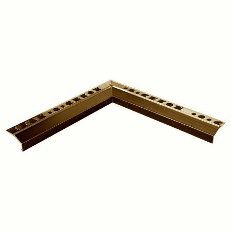 Mini teraszszegély belső sarok padlólap alá vízvető profil erkély balkon terasz 20 mm túllógás teras