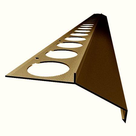 Mini teraszszegély padlólap alá vízvető profil erkély balkon terasz 20 mm túllógás 1 szál 2,5 m tera