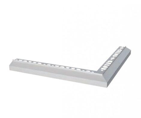 Mini teraszszegély külső sarok padlólap alá vízvető profil erkély balkon terasz 20 mm túllógás teras