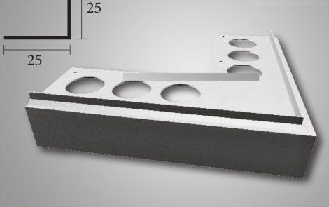 Priamy teraszszegély sarokelem külső sarok vízvető profil erkély balkon terasz 40 mm lelógás teraszp