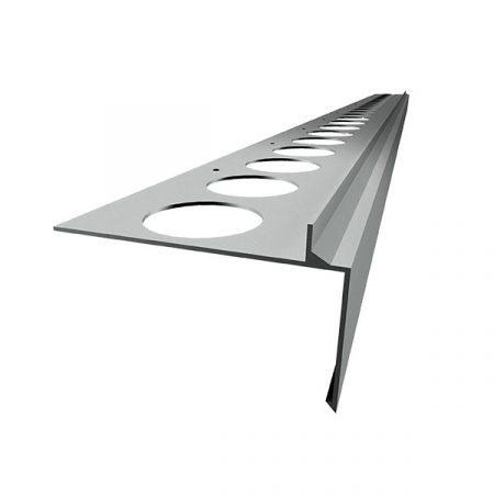 OX Priamy teraszszegély natúr alumínium vízvető profil erkély balkon terasz 40 mm lelógás