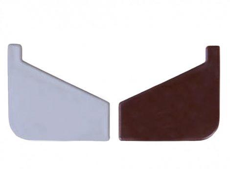 Záróelem Drip Drip Plus és Maxi  teraszprofil számára. A teraszszegély végére illesztheti.