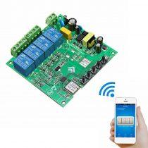 Wifis kapcsoló elektronika 4-es okoskapcsoló