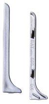 Padlószegély záró elem jobb és bal az ezüst bronz és pezsgő színű eloxált szálcsiszolt alumínium rag