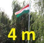 Zászlórúd 4 méter magas zászlótartó oszlop, teleszkóposan összecsukható.