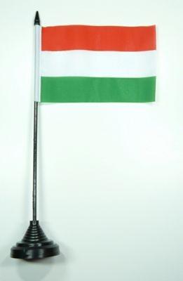 Magyar zászló 11x16 cm asztali tartóval