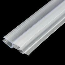 Zuhanykabin üvegajtó vízvető szigetelés 4-6 mm üvegajtóra élvédő dupla füllel 70 cm