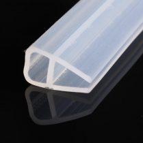 Zuhanykabin üvegajtó vízvető szigetelés 8 mm üvegajtóra élvédő üreges forma 2 méter