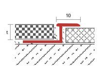 OX Z profil burkolatváltó laminált lap takaró