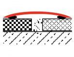 Széles ragasztható burkolatváltó 80 mm küszöbtakaró